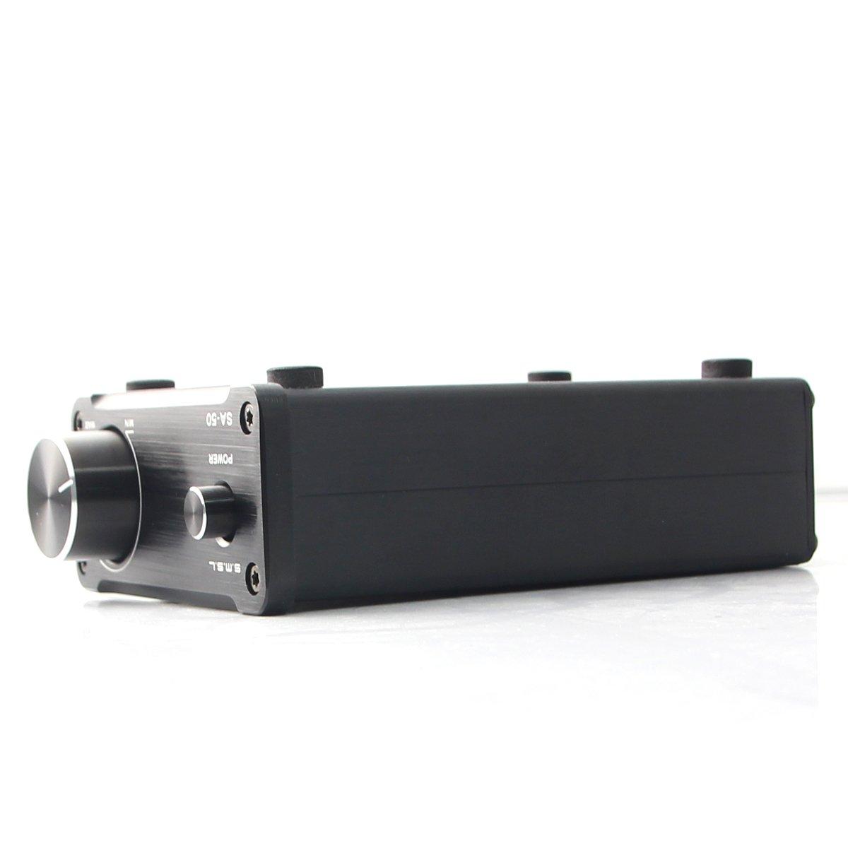 SMSL SA-50 50 W x2 TDA7492 Amplificador de clase T de alta fidelidad, digital estéreo, color negro: Amazon.es: Electrónica