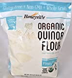 Honeyville Organic Gluten-free Non-GMO Finely Ground Quinoa Flour, (4 Lb. Bag)