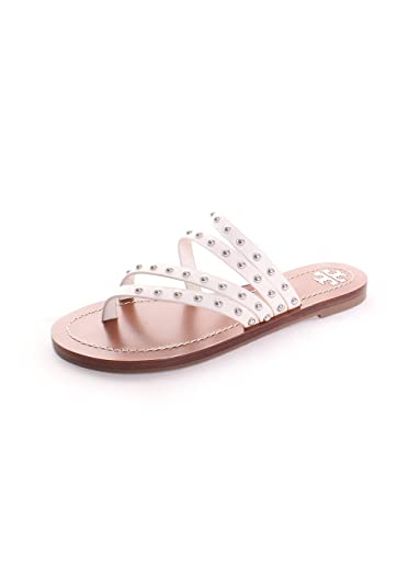 e616caef7c83 ... new zealand tory burch patos studded flat slide sandals perfect ivory  6.5 e7b25 09478