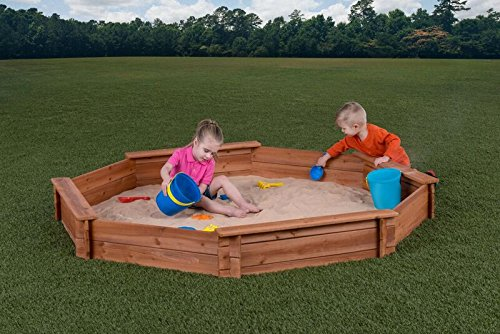 Creative Cedar Designs Octagon Wooden Sandbox