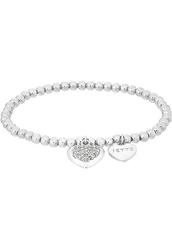 tolle sorten am besten einkaufen retro JETTE Silver Damen-Armband MY LOVE Armband 925er Silber 34 Kristall One  Size, silber