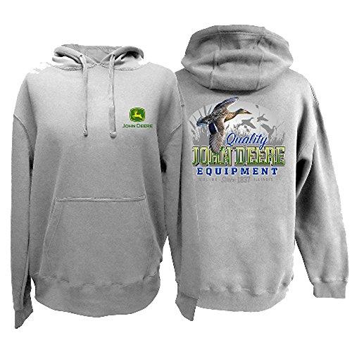 John Deere Western Sweatshirt Mens Flying Duck Hood L Oxford 13021692