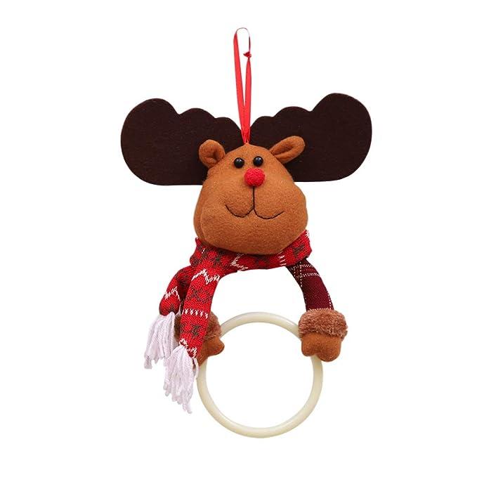 BESTOYARD Toalla Colgante Anillo de Navidad para Cocina baño: Amazon.es: Hogar