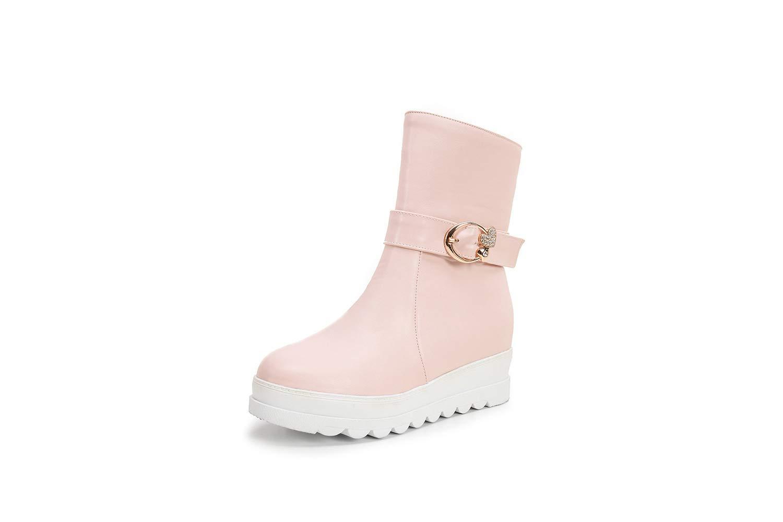 Frauen Schnee Stiefel 2018 Herbst Winter Plattform College Style Schnalle Stiefel Große Größe 40-43