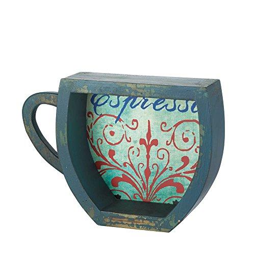 \Decor Accent Blue Espresso Coffee Cup Shelf