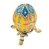 Design Toscano Grand Duchess Collection Romanov Style Enameled Egg: Nikolaevna