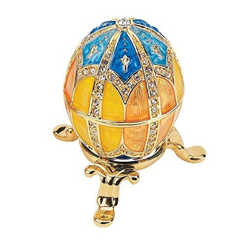 Design Toscano Grand Duchess Collection Romanov Style Enameled Egg: Nikolaevna - Faberge Collectible Eggs Imperial