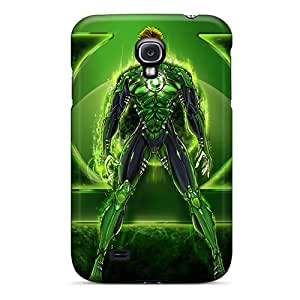 Samsung Galaxy S4 CJX7466ZvPK Support Personal Customs Colorful Green Lantern I4 Pattern Bumper Hard Phone Covers -ChristopherWalsh
