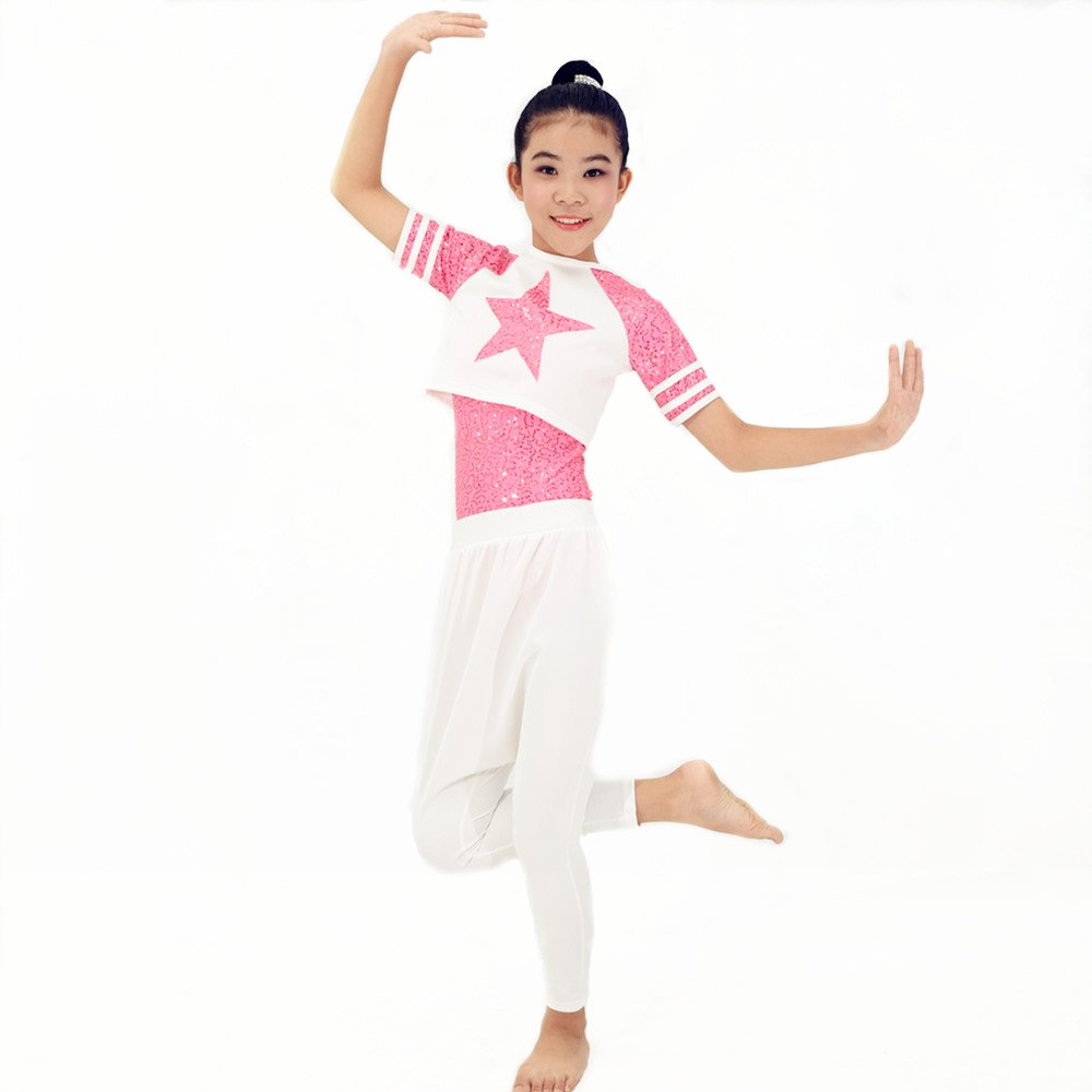 49440a793e87 Amazon.com  MiDee Girl Sequin Dance Outfits Hip Hop Dance Dress Gym ...