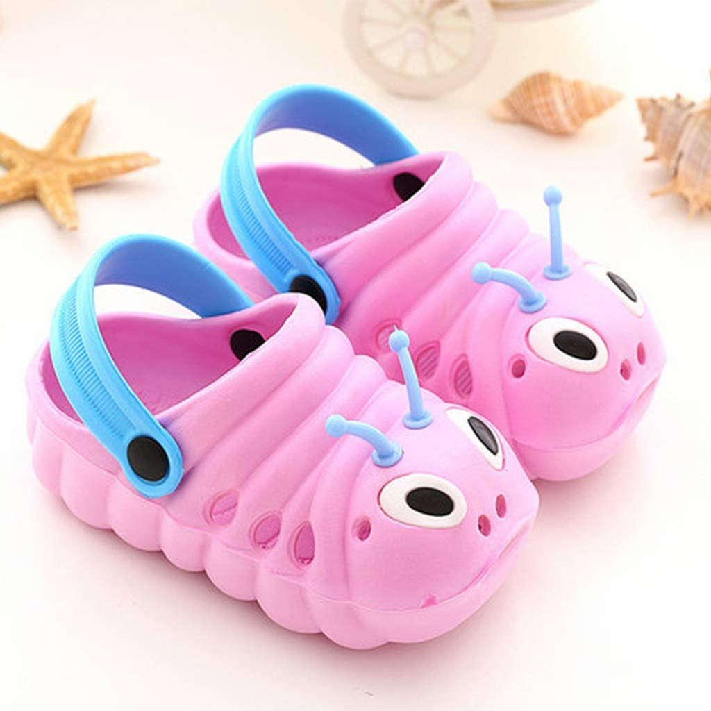 AKIWOS Toddler Little Kids Clogs Sandals Unisex Non-Slip Beach Water Shoes Lightweight Cartoon Pool Shower Flip Slippers