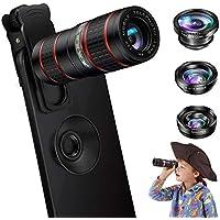 Phone Camera Lens, OYRGCIK 5 in 1 Cell Phone Lens Kit 12X...