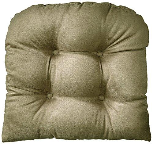 Klear Vu Gripper Non-Slip Obsession Tufted Universal Chairpad Seat Cushion, 15