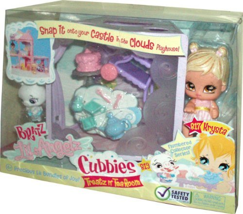 bered Collector Series Cubbies Treatz n' Tea Room Set with Krysta (# 817), White Ballerina Pig (# 819), Cubbies, Food Cart, Cake with Stand, Teapot, Sugar Container, 2 Cups and 2 Teaspoons (Bratz Lil Angelz)