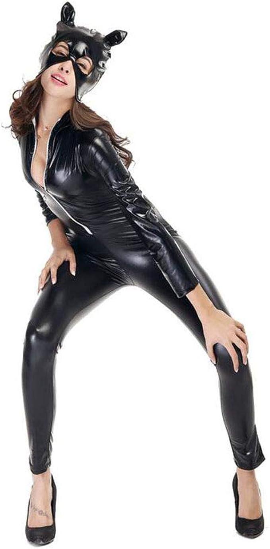 Catsuit - Mono para Mujer, Disfraz de Catwoman Cosplay Ajustado ...