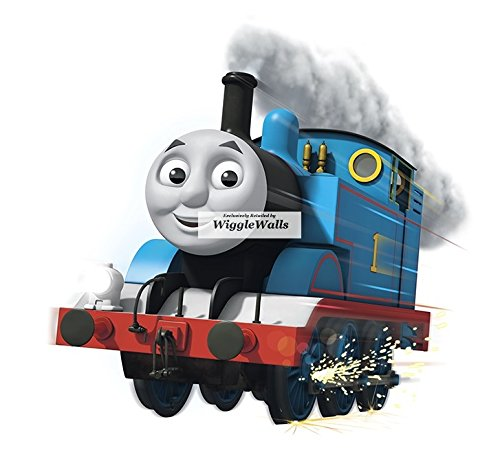 9 Inch Thomas the Tank Engine & Friends Blue No. 1 Removable Wall Decal Sticker Art Home Decor 9 inches wide by 8 inches (Thomas The Tank Engine Border)