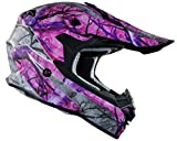 Vega Helmets VF1 Lightweight Dirt Bike Helmet - Off-Road Full Face Helmet for ATV Motocross MX Enduro Quad Sport, 5 Year Warranty (Pink Skull Camo, Large)