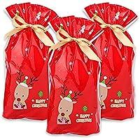 Bolsa de Dulces navideños con cordón,JEANGO 50pcs Patrón