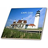 3dRose ct_80839_7 Lighthouse on Cape Cod in Massachusetts-Glass Tile, 8-Inch