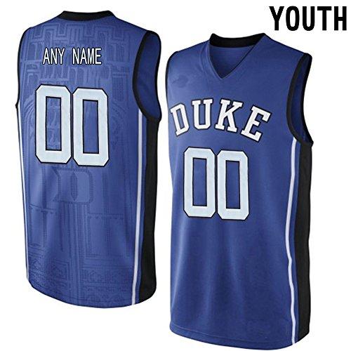 Customs Youth Kids V Neck College Basketball Elite Jersey Royal Blue