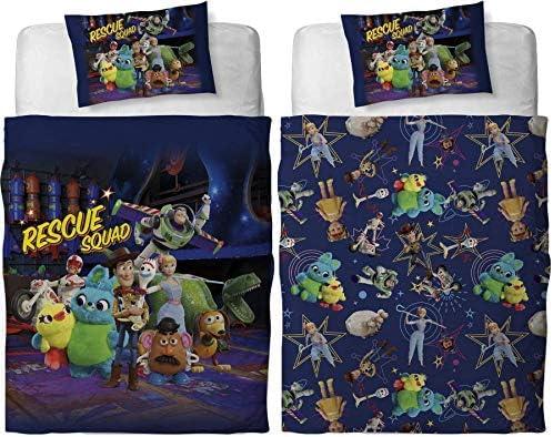Disney Toy Story Juego de Funda de edred/ón Reversible para Cama Individual o Doble Edred/ón Doble