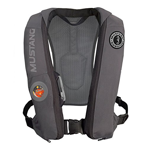 Mustang Survival Corp Elite Inflatable PFD (Auto Hydrostatic), Gray by Mustang Survival B00U3QBAFK  -