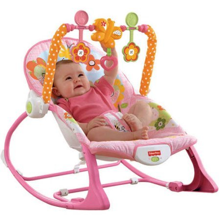 Fisher-Price Infant-to-Toddler Rocker Sleeper, Pink Bunny Pa