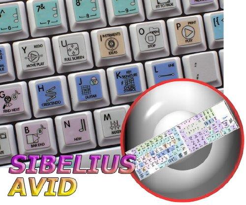 SIBELIUS GALAXY SERIES NEW KEYBOARD LABELS SHORTCUTS 12x12 SIZE