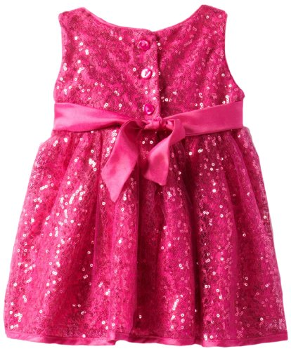 Youngland Baby Girls' Squiggle Sequin Dress