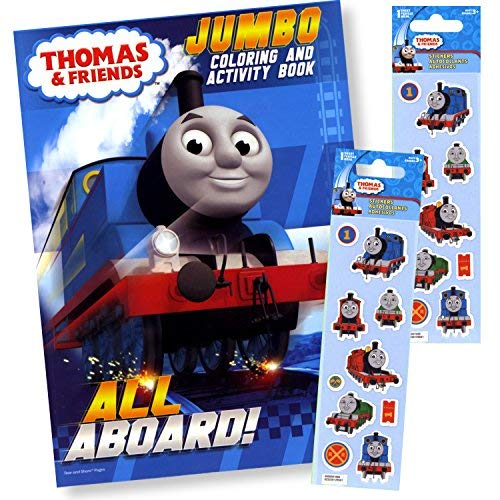 Thomas The Train Coloring Book with Thomas and Friends Stickers]()