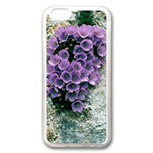 Armener Samsung Galaxy Note4 (5.5 inch) Transparent Sides Rubber Shell TPU Case With Purple Flower on the Rock Kimberly Kurzendoerfer