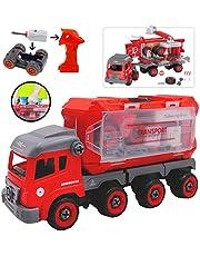 deAO Camion de Construcción para Montar y Desmontar Vehículo Puzle Incluye Destornillador