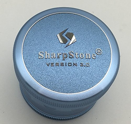 25-Sharpstone-Version-20-4pc-Solid-Top-Grinder-New-Improved-Redesigned-Blue