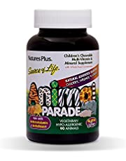 NaturesPlus Animal Parade Source of Life Children's Chewable Multivitamin (2 Pack) - 90 Animal Shaped Tablets - Natural Assorted Flavors- Vegetarian, Gluten-Free - 90 Total Servings