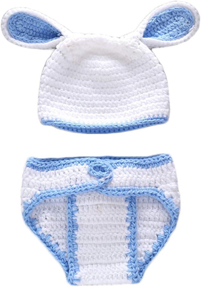 TENDYCOCO Accesorios de Fotografía para Bebés Recién Nacidos Disfraz de Pascua Bebé Traje de Conejito Infantil Hecho a Mano Lindo Encantador