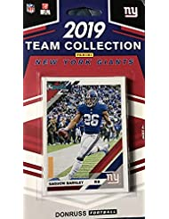 New York Giants 2019 Donruss Factory Sealed 11 Card Team Set with Saquon Barkley and Lawrence Taylor Plus 7 Other Cards Including Rookies of Dexter Lawrence and Daniel Jones