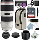 Canon EF 70-200mm f/2.8L IS II USM Lens + Advanced Accessory Kit - Canon Lens Bundle Includes EVERYTHING You Need to Get Started