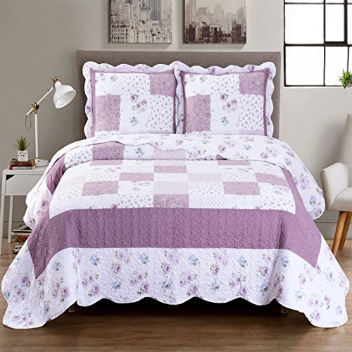 Ventura Full/Queen Size, Over-Sized Quilt 3pc set 92x96