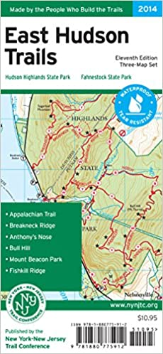 East Hudson Trails Map: New York-New Jersey Trail Conference ...