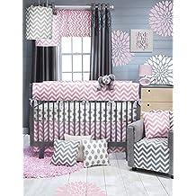 Glenna Jean Swizzle Pink 3 Piece Crib Bedding Set