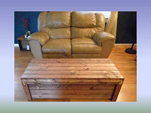 Wooden Coffee Table Storage Chest