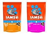 Iams ProActive Health Oral Care Daily Cat Treats Variety Bundle- Chicken and Salmon 2.47oz by Iams For Sale
