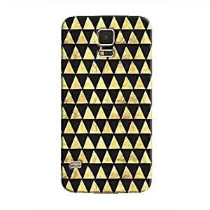 Cover It Up - Gold Black Triangle Tile Galaxy S5 Hard Case