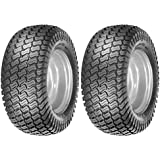 (2) 16x6.50-8 Tires 4 Ply Lawn Mower Garden Tractor 16-6.50-8 Turf Master Tread