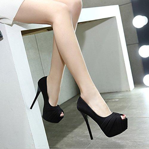 GTVERNH-Damen/Damens'S/Pumps/Heels Herbst Schuhe 14 Cm Schuhe Herbst Schuhe Abends Mit Einer Feinen Wasserdicht Lustig Sexy Nachtclub - Mädchen Apricot 5d8533
