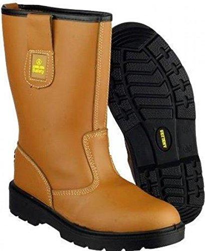 Amblers seguridad para que no se FS224 funda de piel con de hombre para botas de seguridad protectores de calcetines antideslizantes tela