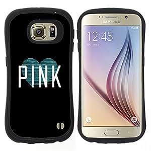 "Hypernova Slim Fit Dual Barniz Protector Caso Case Funda Para Samsung Galaxy S6 [Texto Artista Negro Amor del trullo del corazón""]"