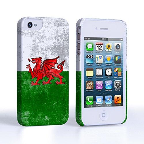 Caseflex Coque iPhone 4 / 4S Rétro Pays de Galles Drapeau Dur Housse