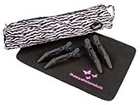 Heat Resistant (ZEBRA Print) Hair Straighteners Storage Bag With Heatproof Mat & Clips fits GHD, Cloud Nine & More by iON