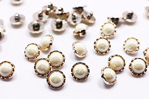 Beetlejuice Cape - Pearl White Shank Buttons Small Rose Gold Cream White Shiny Elegant 13mm 100pcs