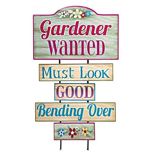 Gardener Wanted Garden Stake